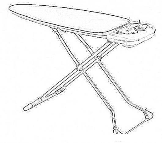 Dibujo de planchador para pintar y colorear mesa de for Planchador de ropa