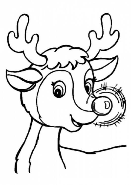 Rudolph The Red Nosed Reindeer Dibujo De Rodolfo El Reno De Santa