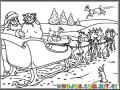 Dibujo Del Trineo De Santa Listo Para Despegar Para Pintar Y Colorear