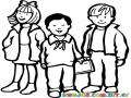 Ninos Estudiantes En El Colegio Para Pintar Y Colorear