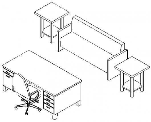 dibujo de muebles de recepcion para pintar y colorear | colorear ... - Dibujo De Muebles