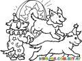 Perritos De Circo Para Pintar Y Colorear Perritos Saltando En Un Aro Para Imprimir