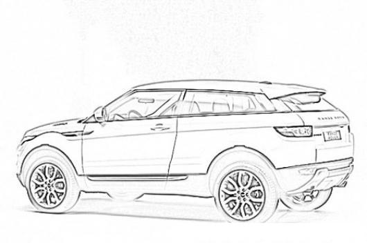 range rover evoque guatemala dibujo para pintar y colorear