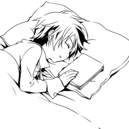 Dibujo De Nino Durmiendo Con La Biblia En Su Almohada Para Pintar
