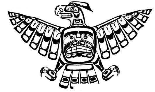 Dibujo De Aguila Azteca Para Pintar Y Colorear | COLOREAR DIBUJOS DE ...