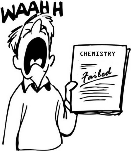Estudiante Triste Dibujo De Examen De Quimica Reprobado Para