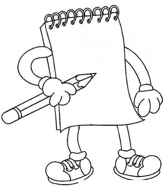 Dibujo de cuaderno de notas con lapiz para pintar y - Dessin elephant rigolo ...