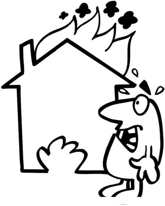 Seguro contra incendios casa incendiada dibujo de una casa - Presupuesto para pintar una casa ...