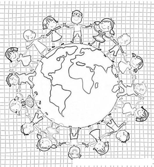 Dibujos Colorear Niños Del Mundo Ninos Del Mundo Dibujo de