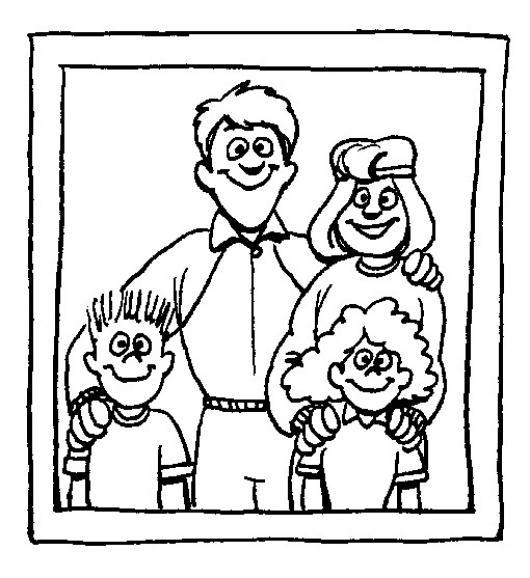 Worksheet. Foto Familiar Dibujo De Un Cuadro De La Familia Para Pintar Y