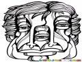3ojos Tresojos Dibujo De Cara Con Tres Ojos Para Pintar Y Colorear Hombre De 3 Ojos