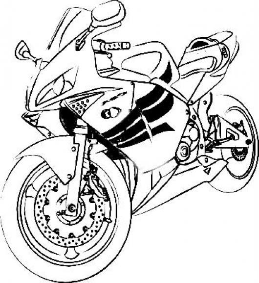 Dibujo De Moto Honda Cbr Para Pintar Y Colorear Motocicleta