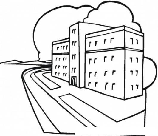Hospitales Dibujo Del Edificio De Un Hospital Para Pintar Y Colorear ...