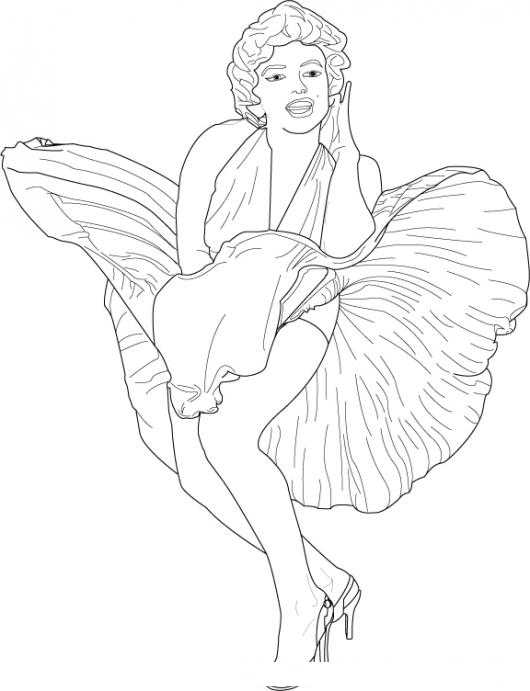 printable marilyn monroe coloring pages - photo#21