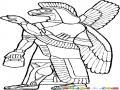 Dibujo De Hombre Aguila Para Pintar Y Colorear Geroglifico De Aguila
