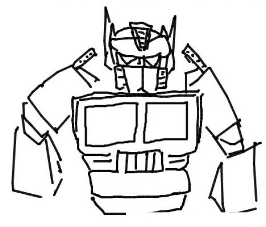 Optimus Prime Transformers Dibujo Del Robot Trailer