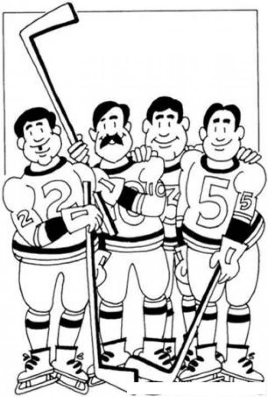 Hockey Sobre Hielo Dibujo De Jugadors De Hocky Para Pintar Y ...