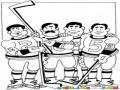 Hockey Sobre Hielo Dibujo De Jugadors De Hocky Para Pintar Y Colorear Equipo De Joky