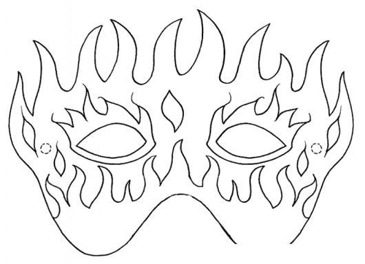 Mascara De Fuedo Dibujo De Antifaz De Fuego Para Imprimir Recortar