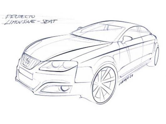 Carro Seat Del Futuro Dibujo De Un Prototipo Seat Para Pintar Y ...