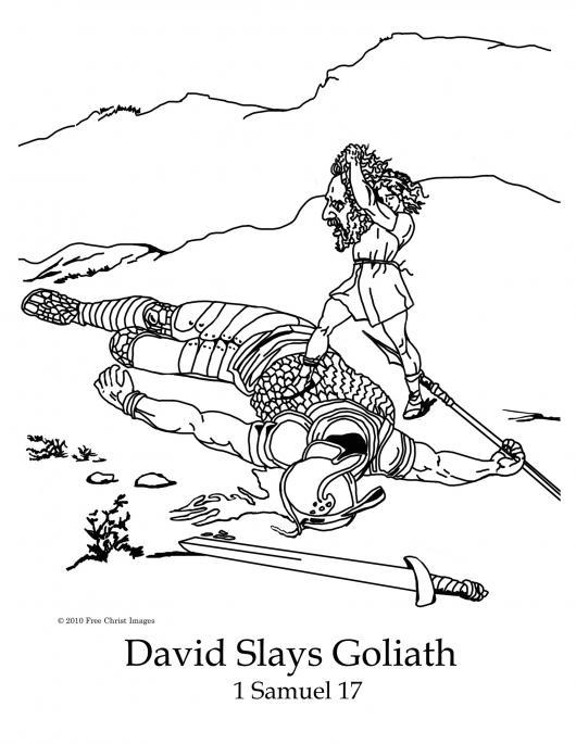colorear a David decapitando a Goliat | COLOREAR BIBLICOS | pintar a ...