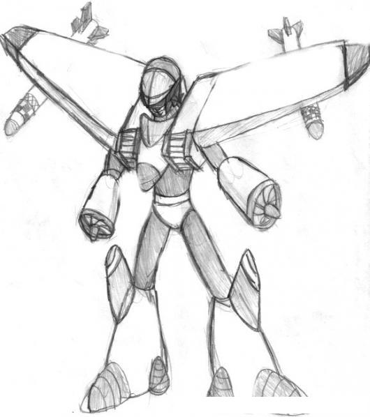 Dibuja un robot loco