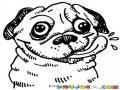 Dibujo De Perrito Hambriento Lamiendose La Trompa Para Pintar Y Colorear