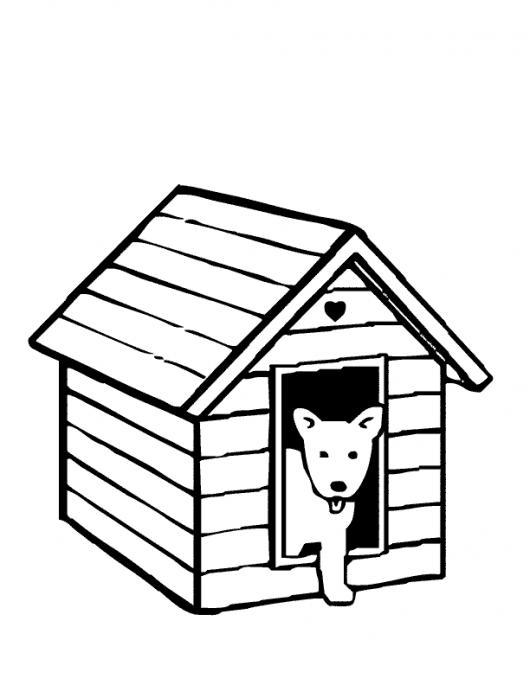 Casita de perrito para pintar y colorear casa de perro for Pintar en casa