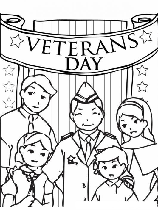 Veterans Day Dibujo De Veteransday Para Pintar Y Colorear El Dia De ...