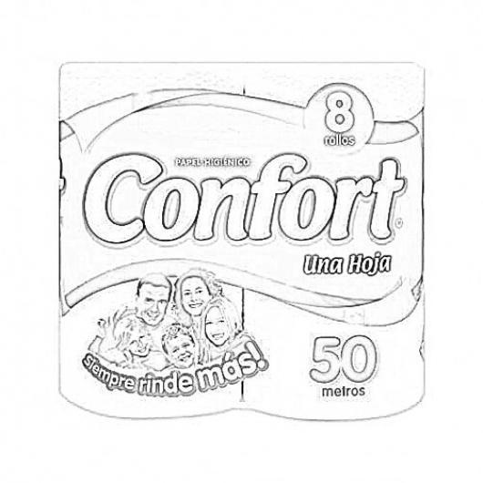 Confort Papel Higienico Chileno Para Pintar Y Colorear Colorear