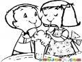 Batidos Y Malteadas Dibujo De Un Chico Y Una Chica Compartiendo Un Milkshake Para Pintar Y Colorear