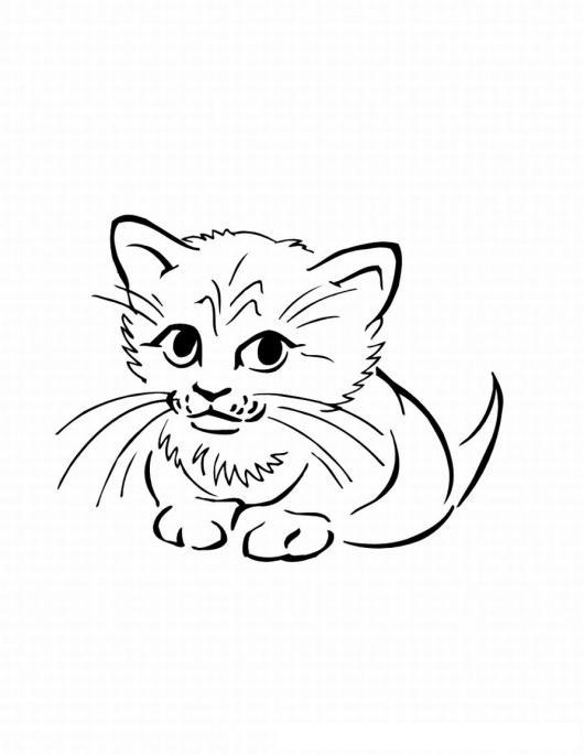 Gatito Cachorrito Dibujo De Gatito Bebe Y Cachorrito Para Pintar Y ...