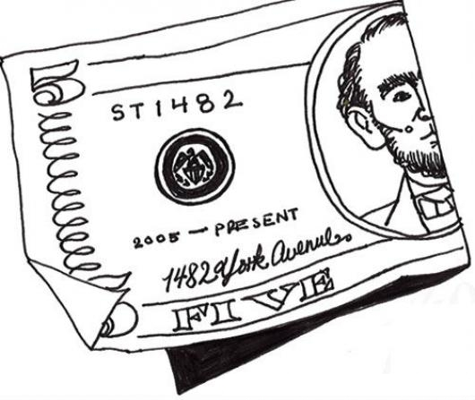 5 Dolares Billete De Cinco Dolares Americanos Para Pintar Y