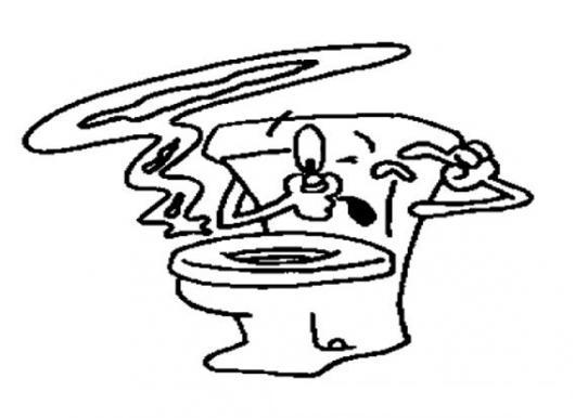 Tasa De Baño O Inodoro:Inodoro Con Mal Olor Para Pintar Y Colorear Dibujo De Tasa De Bano O