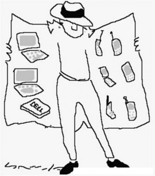 El Buhonero Dibujo De Buhonero Vendedor Ambulante De Objetos