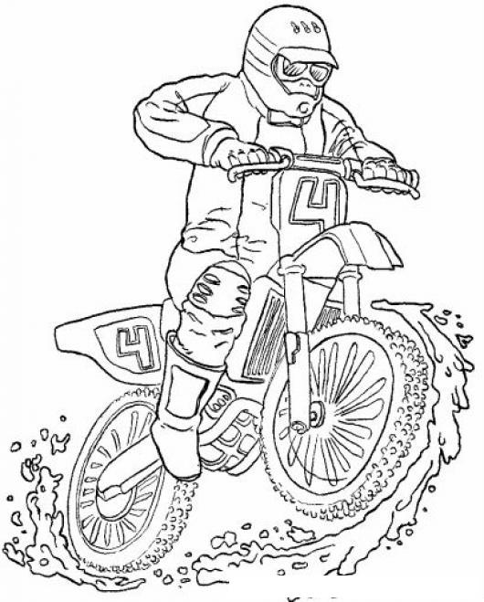 Dibujo De Moto De Enduro Para Pintar Y Colorear Esta Mi Moto