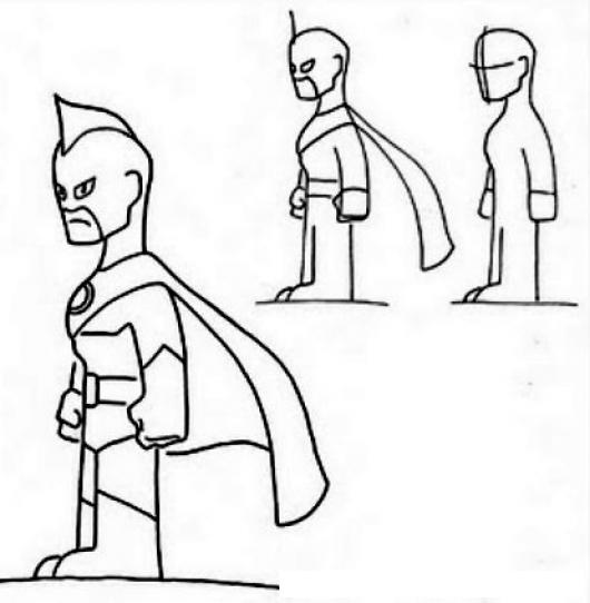 Como aprender a dibujar a un super heroe para pintar y - Aprender a pintar ...