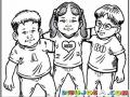 Dibujo De Amigos Ochenteros Para Pintar Y Colorear Chicos De Los 80s
