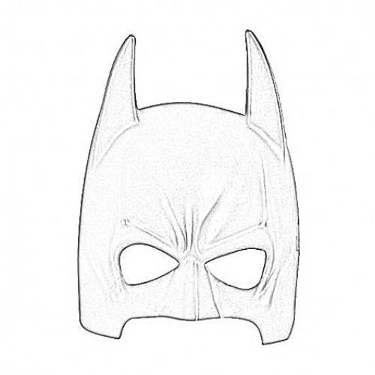 Mascara De Batman Para Pintar Y Colorear Dibujo De La Mascara De