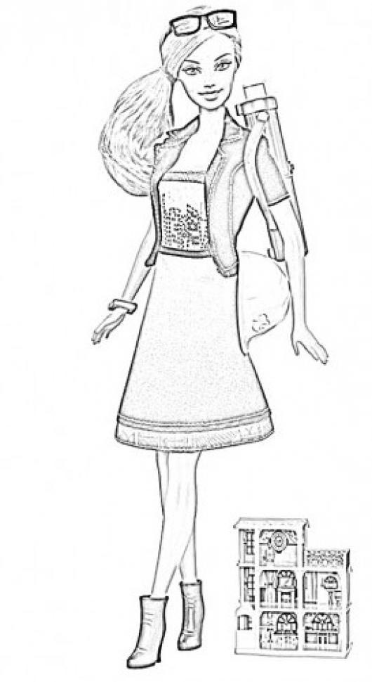 Dibujo De Muneca Barbie Para Pintar Y Colorear Muneca Barby ...