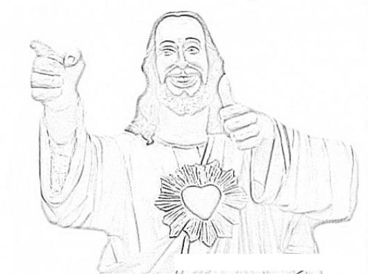 Yo Tengo Un Amigo Que Me Ama Dibujo De Mi Amigo JESUS Para Pintar Y ...