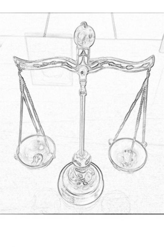 Dibujo De Una Balanza De Justicia Para Colorear  COLOREAR DIBUJOS