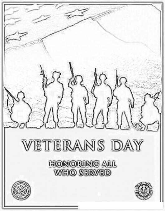 Dia De Los Veteranos Para Pintar Y Colorear Dibujo De Veterans Day ...
