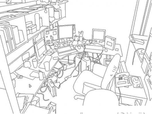 Dibujos para colorear de una casa sucia ideas creativas - Habitacion para colorear ...