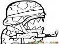 Dibujo De Soldado Rabioso Para Pintar Y Colorear
