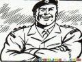 Dibujo De Capitan Del Ejercito Para Pintar Y Colorear
