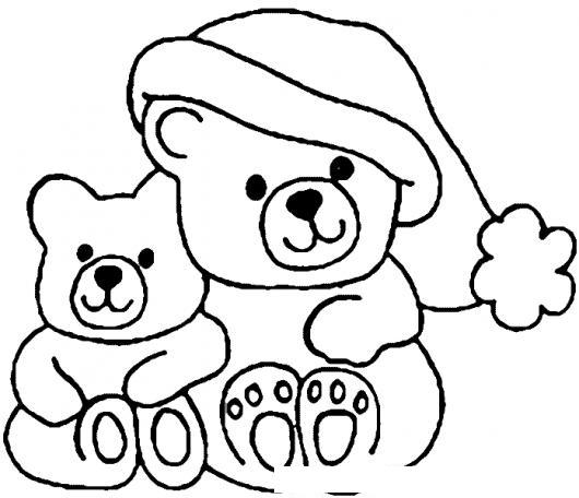 Ositos De Navidad Para Pintar Y Colorear  COLOREAR DIBUJOS VARIOS