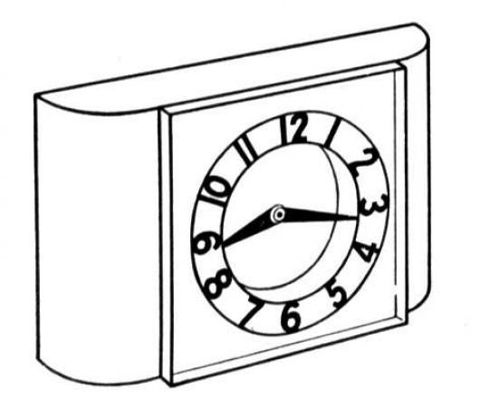 Dibujo De Reloj Despertador Para Pintar Y Colorear   COLOREAR ...