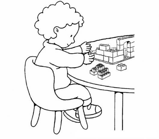 Nino Jugando Legos Para Pintar Y Colorear | COLOREAR DIBUJOS VARIOS ...