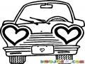 El Carro Del Amor Para Pintar Y Colorear Auto De Luna De Miel